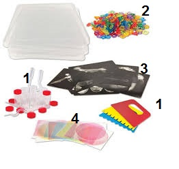 Light cube accessories - 1 Paint and foam kit